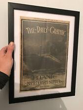 """Cadre Réplique Daily graphic Titanic """"In Memoriam Number"""" sous cadre"""