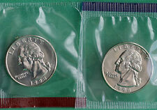 1998 P and D Washington Quarter TWO Coins from US Mint Uncirculated Set BU Cello