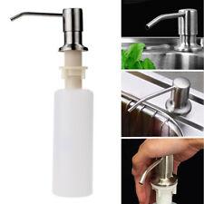 Soap Sink Dispenser Kitchen Pump Liquid Bottle Stainless Steel Hand 300ml Lotion