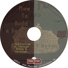 How To Build Farm Buildings & Barns Library { 1916 Plans & Books} on DVD