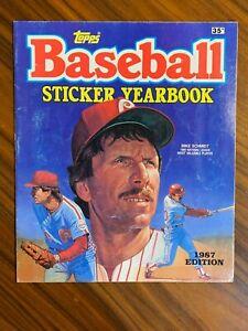1987 Topps Major League Baseball Sticker Yearbook  **UNUSED**