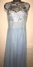 Lovely Pale BLUE Ballgown PROM DRESS LONG LENGTH! Size 10 BNWTS Lace Top! SALE!