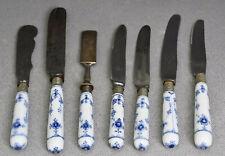 Set 7 x Royal Copenhagen Raadvad Musselmalet Porzellan Messer Buttermesser etc.