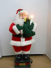 """ANIMATED HOLIDAY CREATIONS TELCO STYLE MOTIONETTE 24"""" SANTA CLAUS with PRESENTS"""