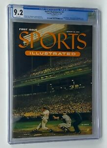 August 16th 1954 Sports Illustrated #v1 Issue #1 CGC 9.2 w/ Topps Baseball Cards
