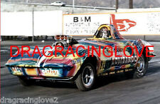 """Lil' John Lombardo"" 1969 Chevy Corvette Roadster NITRO Funny Car PHOTO!"