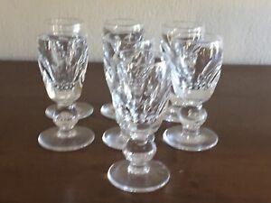 Set Of 7 Waterford Crystal Shelia Liqueur Glasses