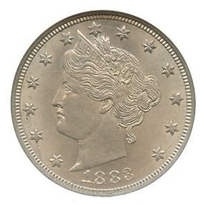 1883 With Cents, Liberty Nickel, NGC MS64