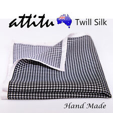 Twill Silk Vintage Pocket Square Handkerchief Hand Made ATTITU Venice Series