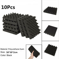 10Pcs Sound-Absorbing Tile Acoustic Soundproofing Foam Crate Studio Deadening