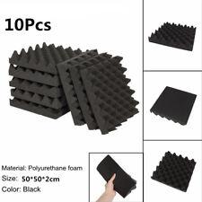 10Pcs Sound-Absorbing Tile Acoustic Soundproofing Foam Crate Studio Deadening