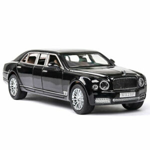 1/24 Bentley Mulsanne Limousine Diecast Model Car Toy Collectable Gift Black Hot