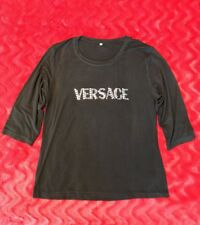Versace Ladies Black Long Sleeve Top US Adult Small Fits 4/6