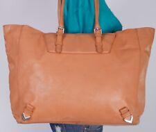 ZARA Extra Large Orange  Leather Shoulder Hobo Tote Satchel Purse Bag