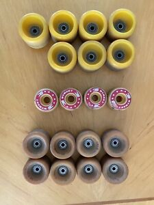 Vintage Blazer Belair roller skate wheels and 2 other sets Vintage Wheels LOOK!