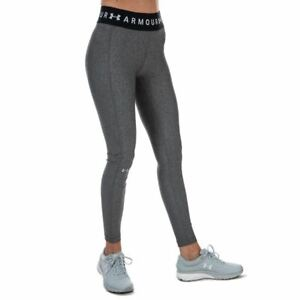 Women's Under Armour Heat Gear Armour Branded High Rise Leggings in Grey