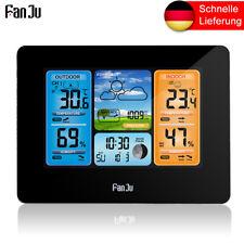 FanJu Funk-Wetterstation Farbprognose mit Temperatur Luftfeuchtigkeit FJ3373B