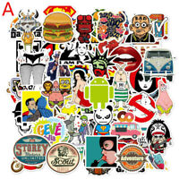 50pcs Laptop Stickers DIY Car Skateboard Suitcase Vinyl Decals Graffiti Sticker