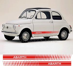 Fasce adesive Fiat 500 ABARTH D'EPOCA strisce fiancate laterali vecchia 500 old