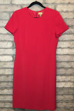 CASLON Red Sz 6 CLASSIC CAREER Dress Short Sleeves Fitted Back Zip LINED Perfect