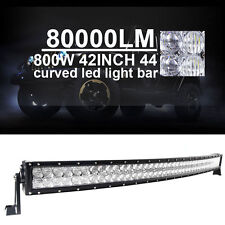"800W 42inch 45"" 5D LED Light Bar Curved Combo CREE Spot Flood Offroad  Truck C4"