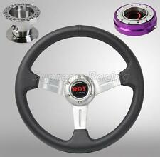 Chrome Steering Wheel Kit w/Quick Release PR For Toyota Celica Corolla Cressida
