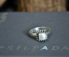 🌺 Silpada BUTTON Frame MISSING BEAD Sterling silver PEARL ring R1617 size 6.75