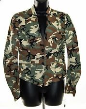 NEW Free People Women's Camouflage Casual Military Light Jacket Size 4 - Cotton