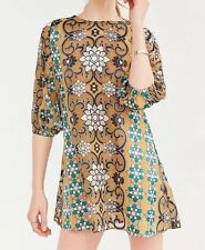 NWT Medium For Love and Lemons X Free People Theresa Silk Mini Dress Hot Hippy