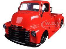 1952 CHEVROLET COE PICKUP TRUCK RED/BLACK WHEELS 1/24 DIECAST MODEL JADA 97046