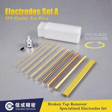 2 Set of Electrodes Set A ø1-ø6 Brass Round Rod & Brass Strip for EDM-8C Use