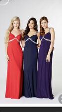 Tiffany sienna Prom Navy Cut Out Back Long Dress size 20 BNWT