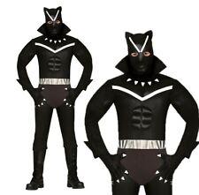 Adult Black Panther Costume Fancy Dress Superhero Mens Film and TV Halloween UK