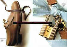 Publicité Advertising 107  1990  Hermès (2p) le Kelly  montre & chaussure