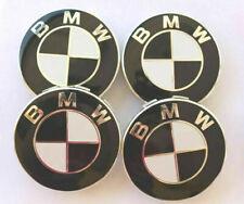 1/4X TAPAS compatibles  BMW negro blanco 68 mm llantas serie 1 2 3 4 5 6 7 M Z X