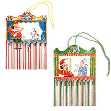 125 Punch & Judy Die-cut Gift Tags with Coloured Cord by Courtier ET0005