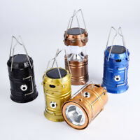 Solar Camping Lamp Lantern Hiking Portable Rechargeable Tent Lamp LED Hand Light