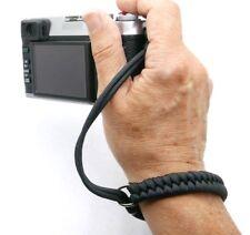 "The ""Cordy Crossover"" Black Paracord Camera Wrist Strap - Handmade by Cordweaver"