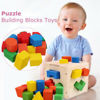 Kids Early Learning Toy Baby Educational Toys Wooden Building Block Toddler Toys
