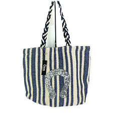 Sam Edelman CircUs Handbag Tote Bag Cooper Sequin Anchor Woven Cotton New