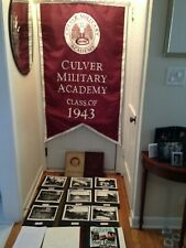 CULVER MILITARY ACADEMY CLASS '43 FLAG 1942 & 43 YEARBOOKS & MAN OF YEAR PAPERS