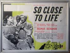Cinema Poster: SO CLOSE TO LIFE 1958 (Quad) Ingmar Bergman Eva Dahlbeck