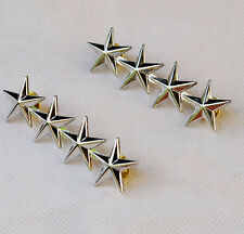 WW2 PAIR OF US ARMY OFFICER 4 STAR GENERAL RANK BADGES PIN LARGE-32063