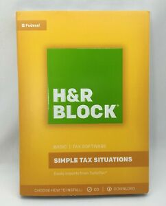 H&R Block Simple Tax Situations 2017, Basic Tax Software, Federal, CD & Digital