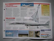 Aircraft of the World Card 9 , Group 16 - North American XB-70 Valkyrie