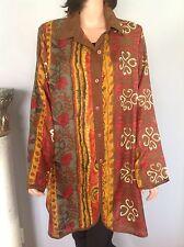 Tunic Shirt Blouse  3X Ekolz India Multicolor Deigner Fashion Women Plus Size