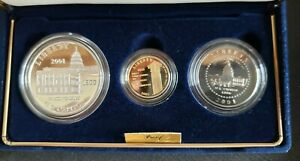 2001 US Capitol Visitor Center 3-Coin Commemorative Proof Set