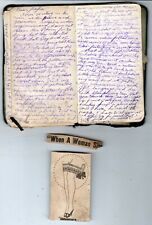 1918-19 Handwritten WWI Soldiers Diary Topping Ashby Kansas City Camp Coetquidan