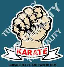 KARATE FIST DECAL STICKER MARTIAL ARTS JIU JITSU KUNG FU TAEKWON DO SELF DEFENCE