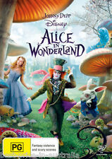 Alice In Wonderland DVD Movie FAMILY FILM Johnny Depp Anne Hathaway BRAND NEW R4